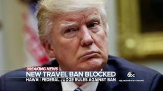 Hawaii judge temporarily blocks President Trump