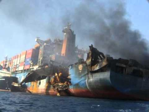 Container Ship Wrecks And Fires, Tanker Ship Fire Accident
