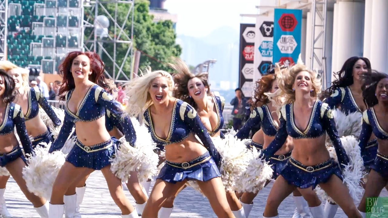 Los Angeles Rams Cheerleader Rehearsal Hong Kong