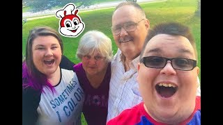ABOUT TO TAKE MOM & DADKNUCKLES TO JOLLIBEE IN CHICAGO!