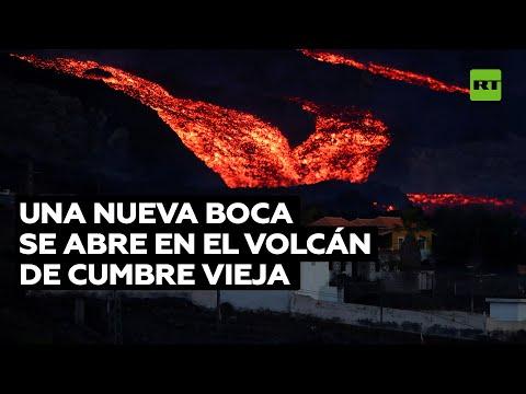 Se abre una nueva boca en el volcán de La Palma, expulsando ceniza y piroclastos