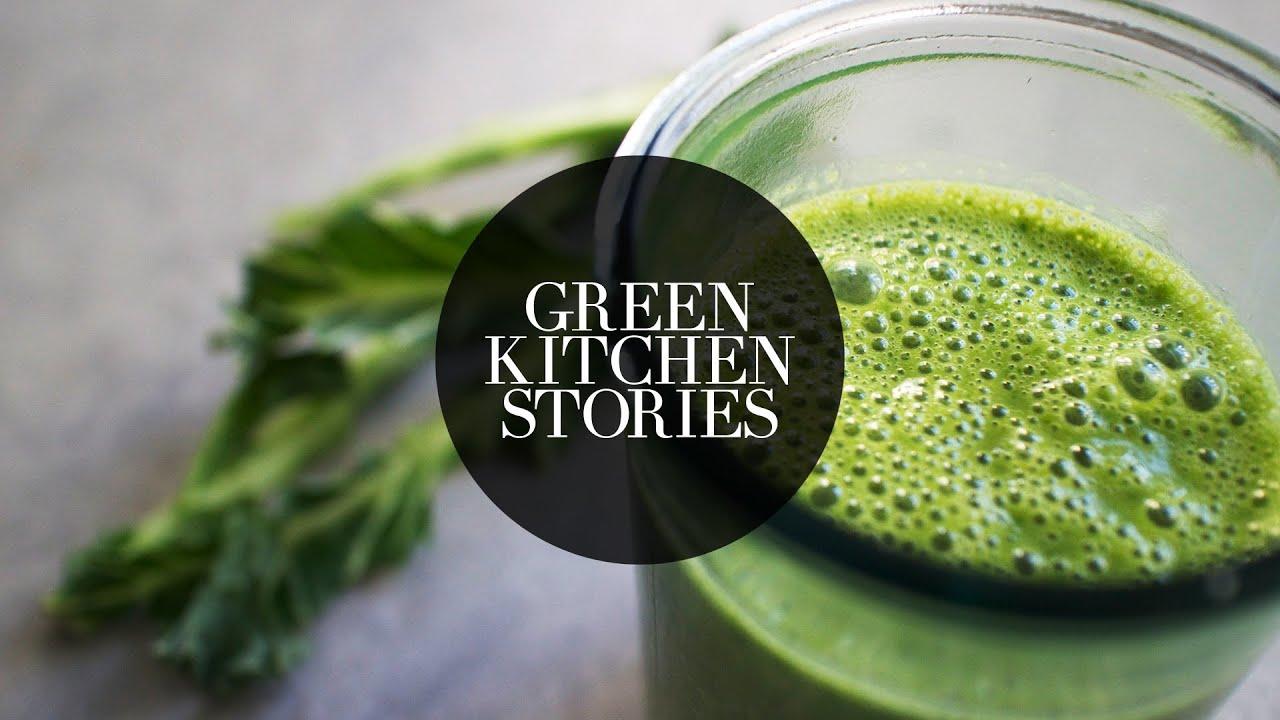 green hemp protein smoothie green kitchen stories youtube. Black Bedroom Furniture Sets. Home Design Ideas