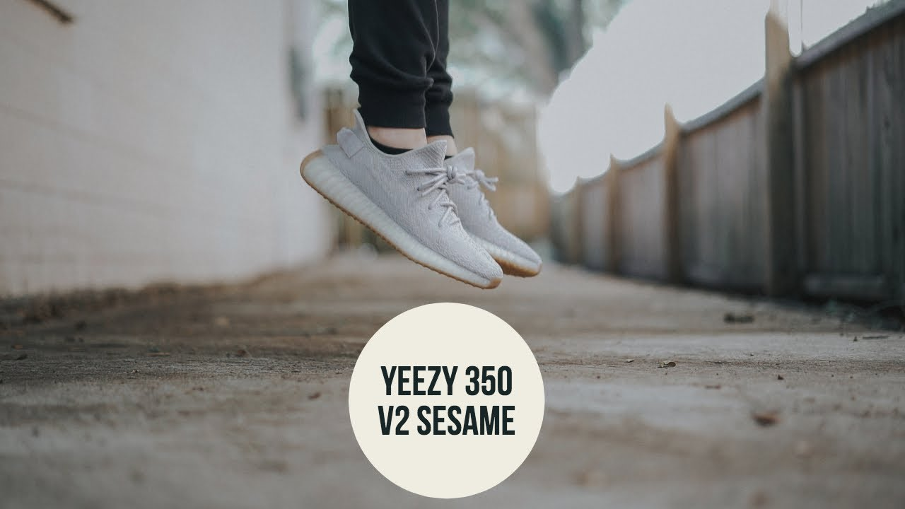 56e8b3413291d Đánh giá + On Feet đôi Adidas Yeezy 350 v2 Sesame (Early Release ...