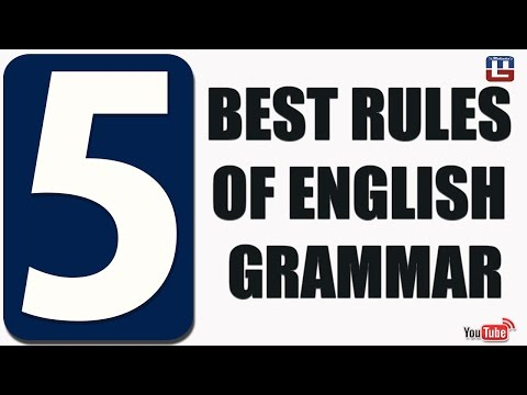 5 BEST RULES OF GRAMMAR | ENGLISH | ALL COMPETITIVE EXAMS