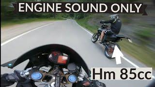 Aprilia RS 125 vs Hm 85 cc    Full Gas #6