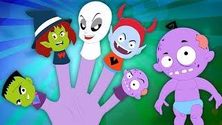Mostro dito Famiglia   Halloween canzoni per bambini   Monster Finger Family   Kids Tv Italiano