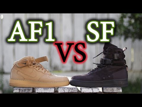 Nike Air Force 1 Mid VS. Air Force 1 SF (Special Field) | On-Feet Comparison