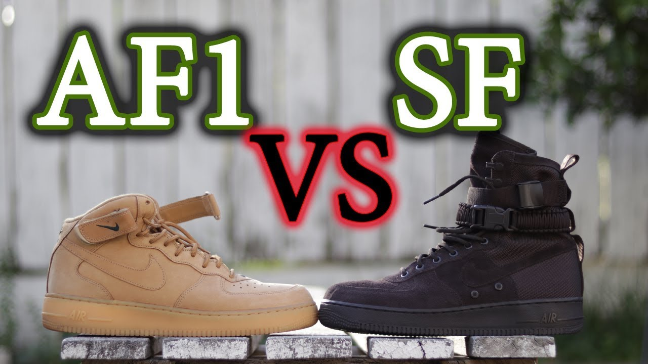 5cd265998d Nike Air Force 1 Mid VS. Air Force 1 SF (Special Field) | On-Feet Comparison