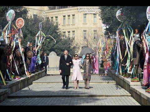Prezident İlham Əliyev və ailə üzvləri Novruz bayramı şənliyində iştirak ediblər