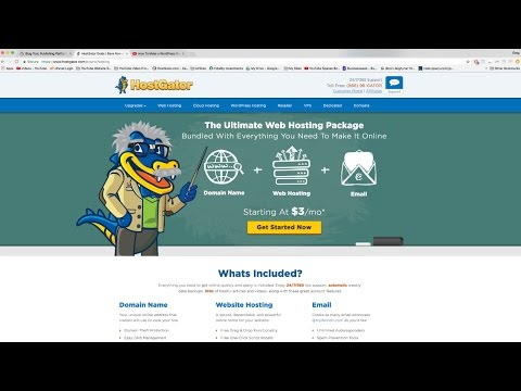 How To Make a WordPress Website (or Blog) with HostGator - 2017