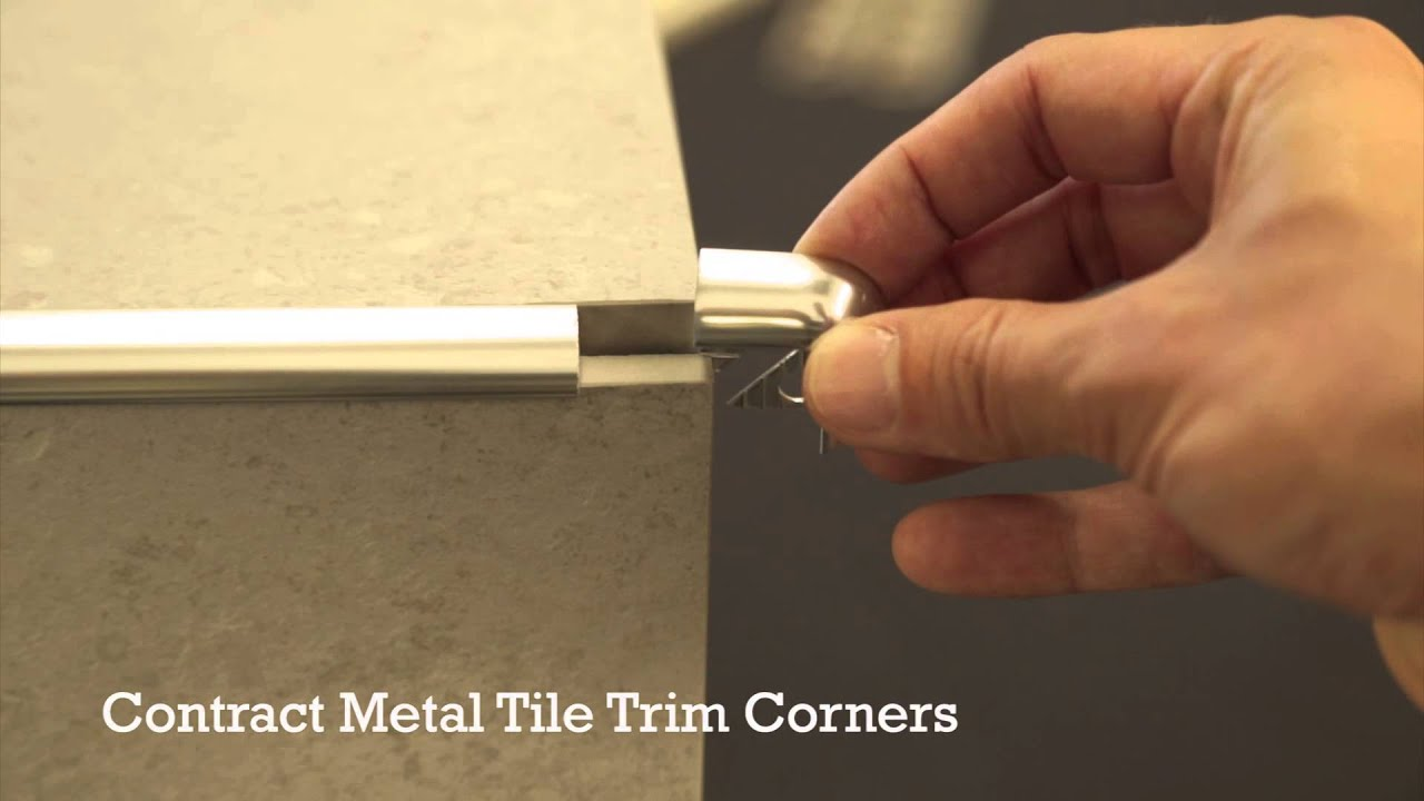 Pro tile trim corners plastic and metal youtube dailygadgetfo Choice Image