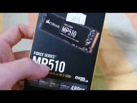 Unbox – HD SSD M.2 480GB Corsair Force Series MP510 NVMe – CSSD-F480GBMP510