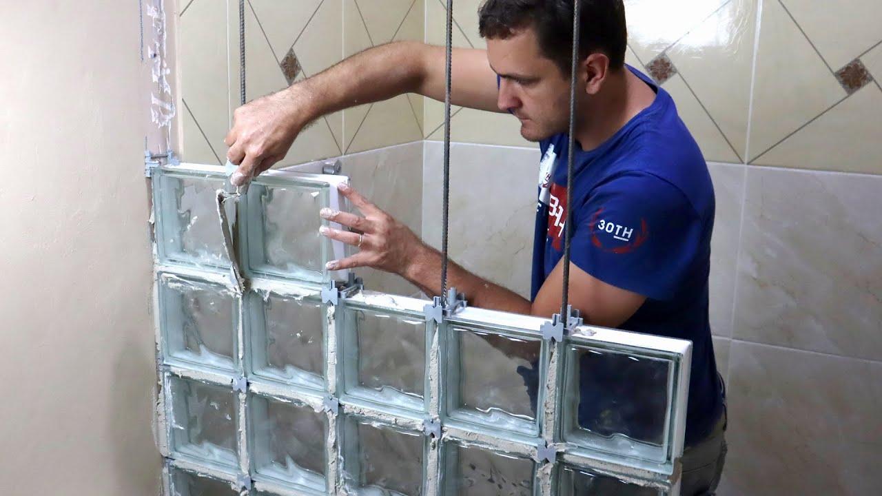 Box do Banheiro de Bloco de Vidro Dicas do Fernando