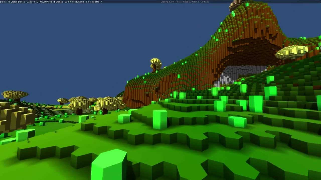 TerrainEngine] Voxels / Marching Cubes / Robust Architecture / FPS