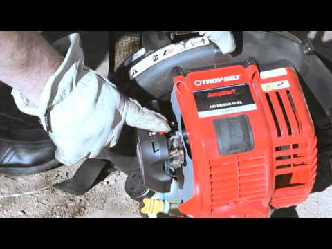 The TB4BP EC gas leaf blower | How to set up your backpack blower