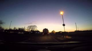 Journey Along A505 Into the Sunset 6th February 2015