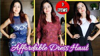 Affordable Designer Dress Haul   Online Partywear Gown Haul @WMall Shopping   Dress Haul