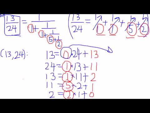 Geometry of Numbers - Lecture 2.1.3 : Continued fractions and Euclidean Algorithm, a comparison