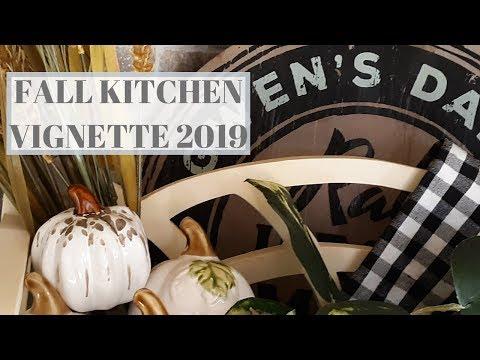 FALL KITCHEN VIGNETTE 2019 with Denise Jordan    #fallkitchenvignette2019    Fall Home Decor