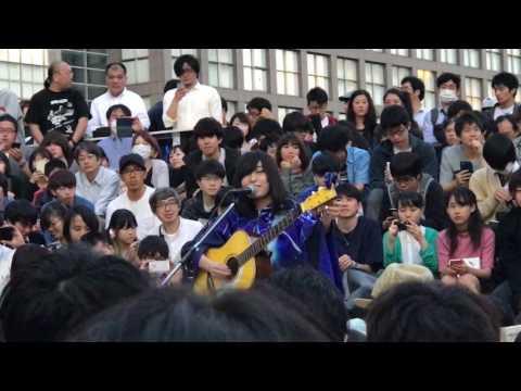 酸欠少女さユり 新宿 ペンギン広場 路上ライブ 2017.05.19