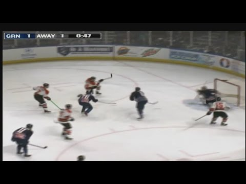 Komets beat Greenville 4-1 on 1/9/15 - courtesy: WSPA-TV
