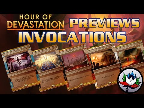 Hour of Devastation Spoilers: CRAZY New Invocations Revealed for Magic: The Gathering – MTG!