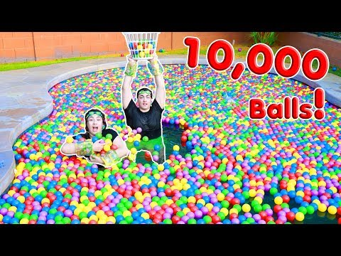 I FILLED UP MY POOL WITH 10,000 BALL PIT BALLS ~ BALL PIT BALLS GAME