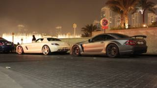 Matte grey SL65 Black Series in Dubai