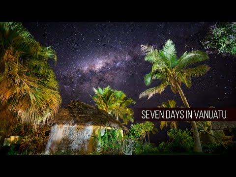 A timelapse of the milky way on Vanuatu island