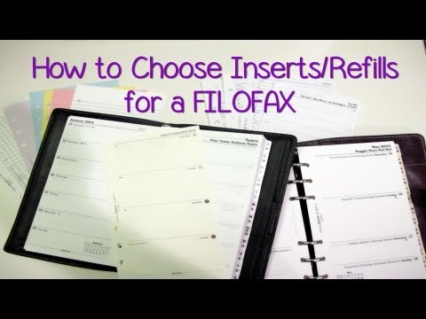 2013 Video Series: How to Choose Inserts/Refills for a FILOFAX
