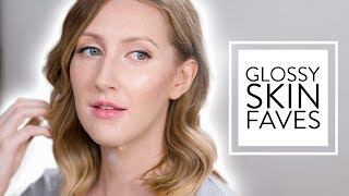 CURRENT MAKEUP ROUTINE FEAT. NEW GLOSSY SKIN FAVOURITES | Sharon Farrell