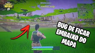 NEW BUG TO STAY UNDER THE MAP-FORTNITE (PS4)