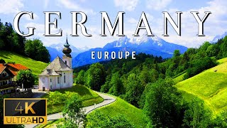 FLYING OVER GERMANY (4K UHD)  Relaxing Music With Stunning Beautiful Nature (4K Video Ultra HD)