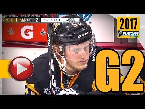 Nashville Predators vs Pittsburgh Penguins. 2017 NHL Playoffs. Stanley Cup Final. Game 2. (HD)