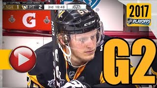 Nashville Predators vs Pittsburgh Penguins. 2017 NHL Playoffs. Stanley Cup Final. Game 2. (HD)