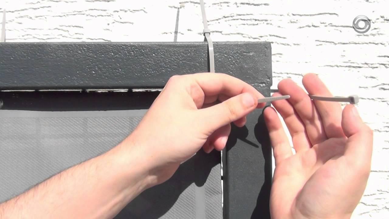 Montage Balkonbespannung Balkon Sichtschutz Montieren Youtube