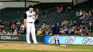 Joey Devine - Sacramento River Cats - 4/26/11