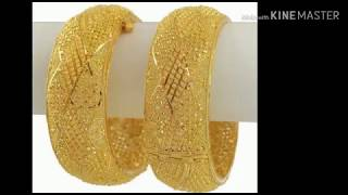 Dubai gold jewelry design || latest bangles collection #goldbanglescollection #dubaigoldjewelrydsign