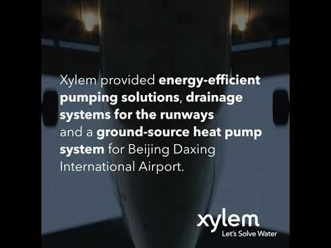 Xylem Innovation at Beijing Airport Xylem solutions are at work for renewable energy at Beijing Airport #letssolvewater.