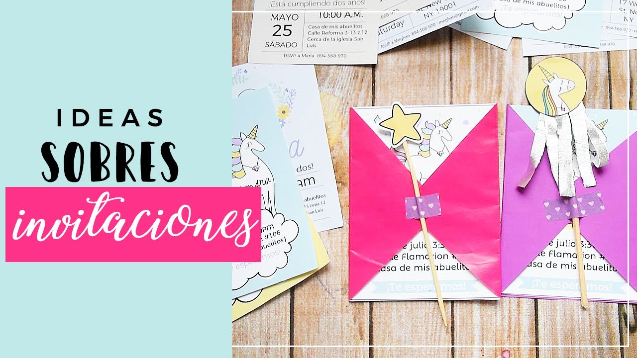 Ideas Decorar Sobres Para Invitaciones