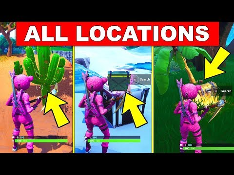 Destroy CACTI In The Desert, Search AMMO BOXES In The Snow Biome,Search CHEST In The Jungle FORTNITE