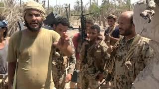 شاهد جثث المتسللين الحوثيين الذين سقطوا برصاص القوات المشتركة بالجاح