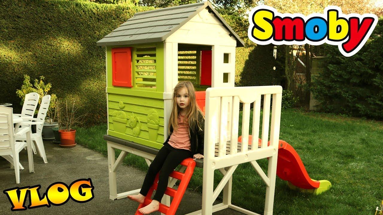 ellie fait construire une nouvelle maison de vacances cabane ext rieure sur pilotis smoby. Black Bedroom Furniture Sets. Home Design Ideas