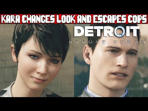 Kara Changes Her Look and Escapes the Police with Alice DETROIT BECOME HUMAN