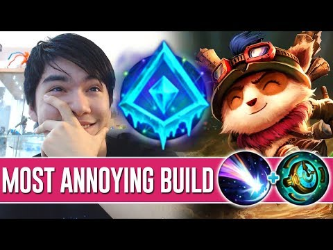 NEW KEYSTONE MAKES TEEMO EVEN MORE ANNOYING ! PERMA SLOW CANCER TEEMO BUILD [ UP 100 CS IN LANE ]