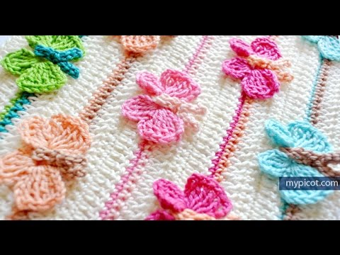 How To Crochet Butterfly Stitch Diagram Step By Step Instructions