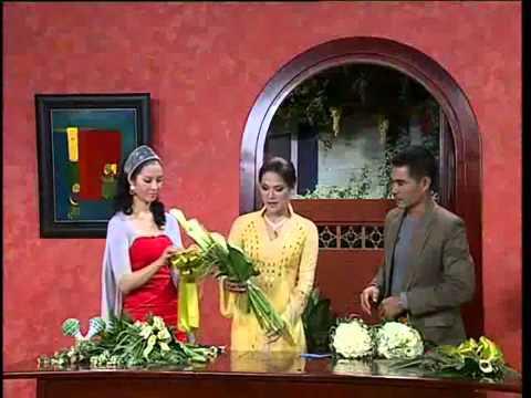 Hoa cưới- Cách bó hoa cưới từ hoa loa kèn- http://hoatuoitaydo.com/ (st)