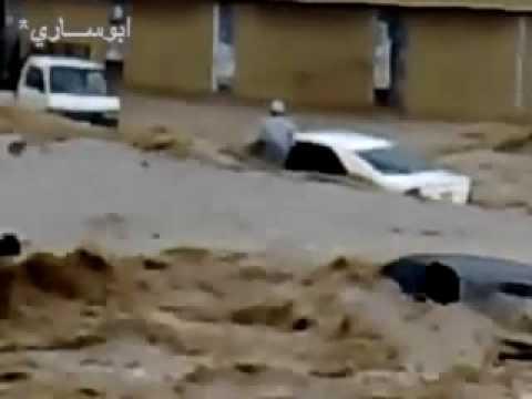 Jeddah Floods  أفجع و أطول  مقاطع الهلاك في سيول جدة