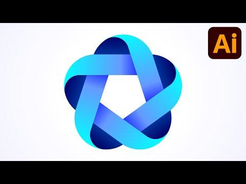 Best logo design | 3D logo design | Polygon | Adobe illustrator tutorials | 051 thumbnail