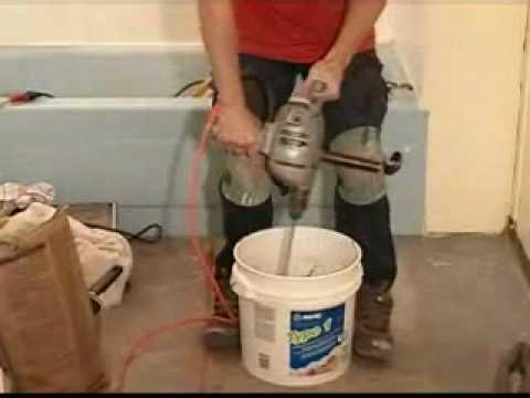 Floor Tile Mortar - Part 3 - Correct Tile Mortar Consistency - YouTube
